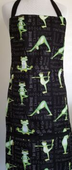 yoga frogs apron with pockets