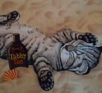Tanning Tabby