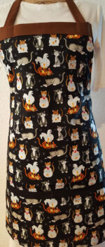 trouble brewing cat apron with pockets