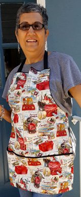 retro travel apron with pockets