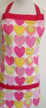 feeling groovy hearts apron