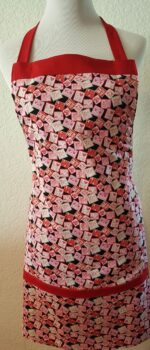 love stamps apron with pockets