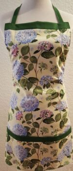 hydrangeas apron with pockets