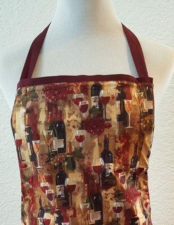 red grapes wine apron top