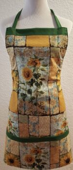 sunflower apron with pockets