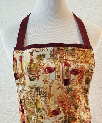 tuscany wine apron top