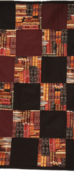 book lap quilt for book lovers