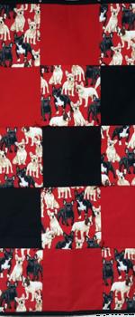 French bulldog lap quilt
