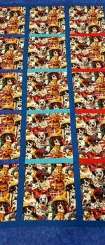 firefighter dogs lap quilt