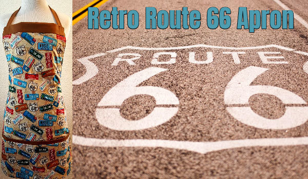 Retro Route 66 Apron